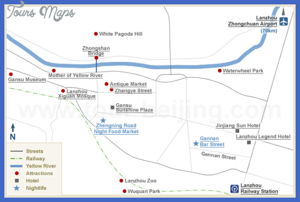 lanzhou map tourist attractions  1 Lanzhou Map Tourist Attractions