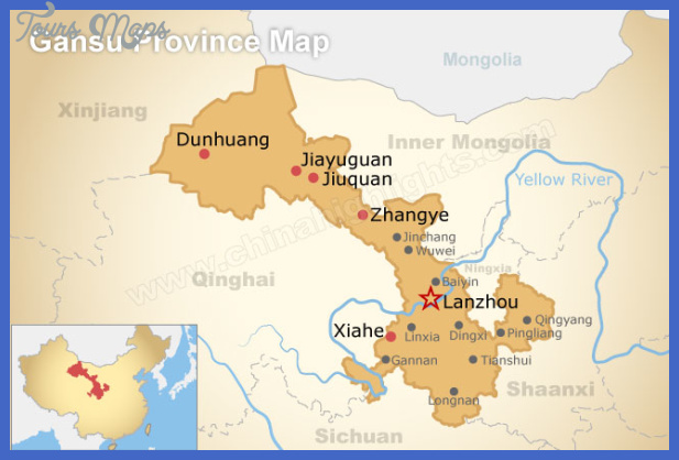 lanzhou map tourist attractions  15 Lanzhou Map Tourist Attractions