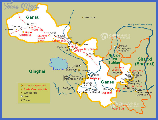 lanzhou map tourist attractions  6 Lanzhou Map Tourist Attractions