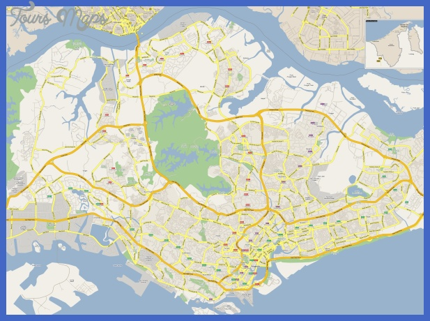 large detailed sg map Singapore Map