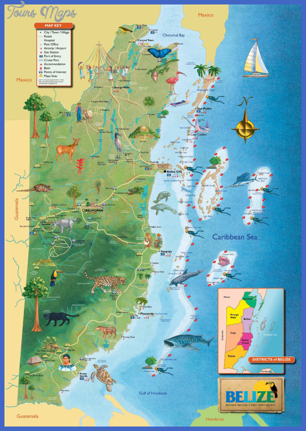 large detailed tourist map of belize Madagascar Map Tourist Attractions
