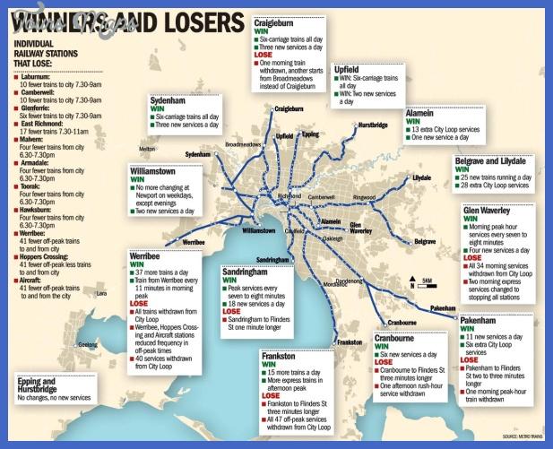 large map Melbourne Metro Map