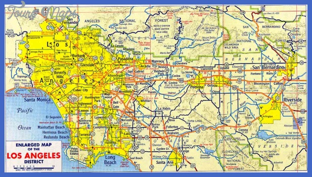large road map of los angeles Los Angeles Map