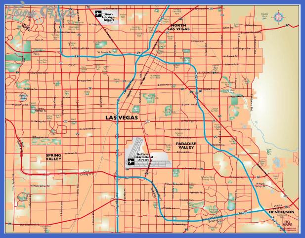 las vegas map 1 Las Vegas Map