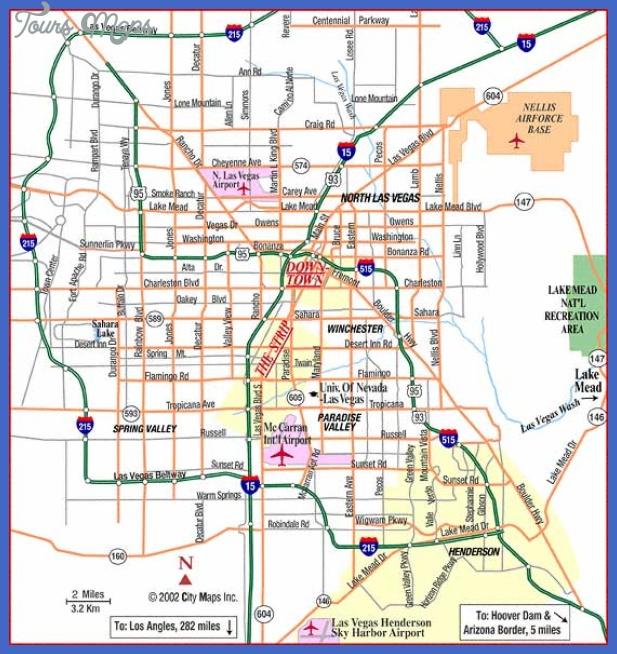 las vegas map  0 Las Vegas Map