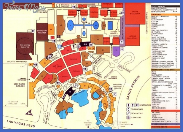 Las Vegas Map Tourist Attractions Toursmaps Com