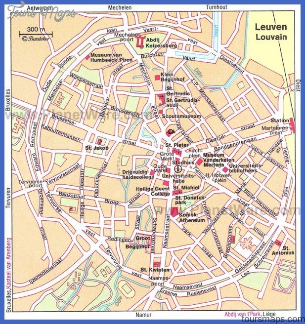leuven map Belgium Map Tourist Attractions