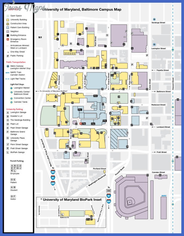 University of Maryland, Baltimore Campus Map