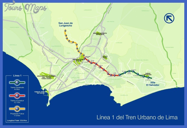 lima metro map2 Lima Subway Map
