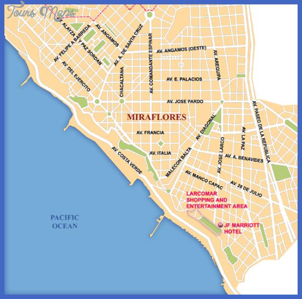 lima miraflores area map Lima Map