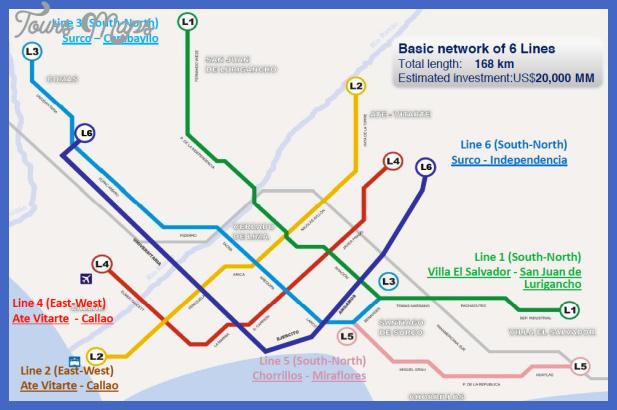 line lima metro 6 Lima Metro Map