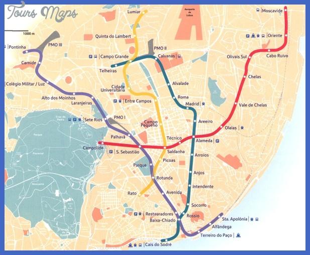 lisboa2000 Lisbon Subway Map