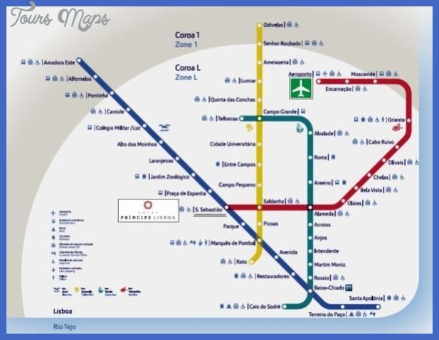 lisbon metro map  7 Lisbon Metro Map