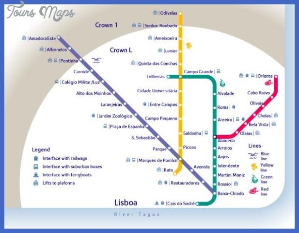 lisbon subway map portugal 10025 Lisbon Subway Map