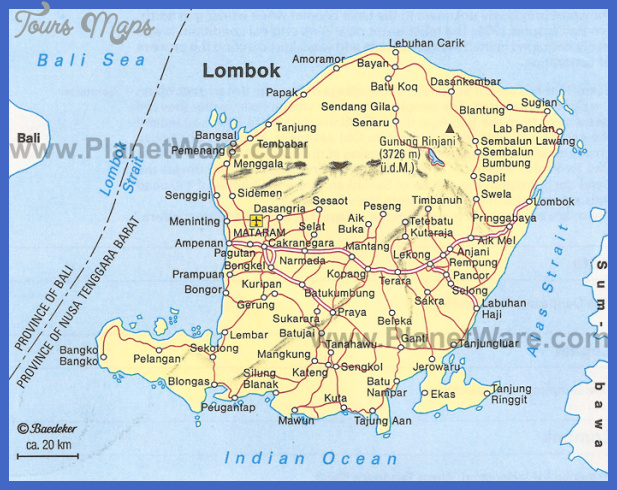 lombok map Indonesia Map Tourist Attractions