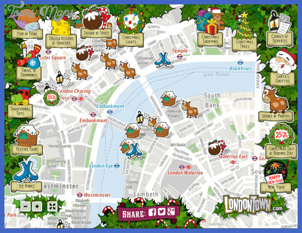 London Map Tourist Attractions ToursMapsCom – Tourist Maps of London