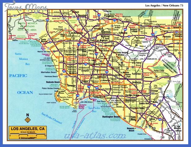 los angeles tourist map pdf