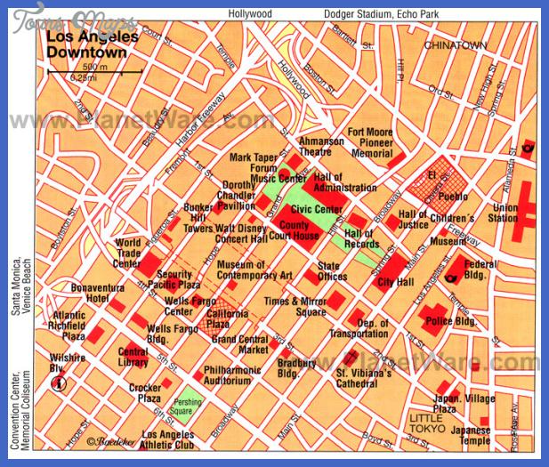 Disney Los Angeles Map.Los Angeles Map Tourist Attractions Toursmaps Com
