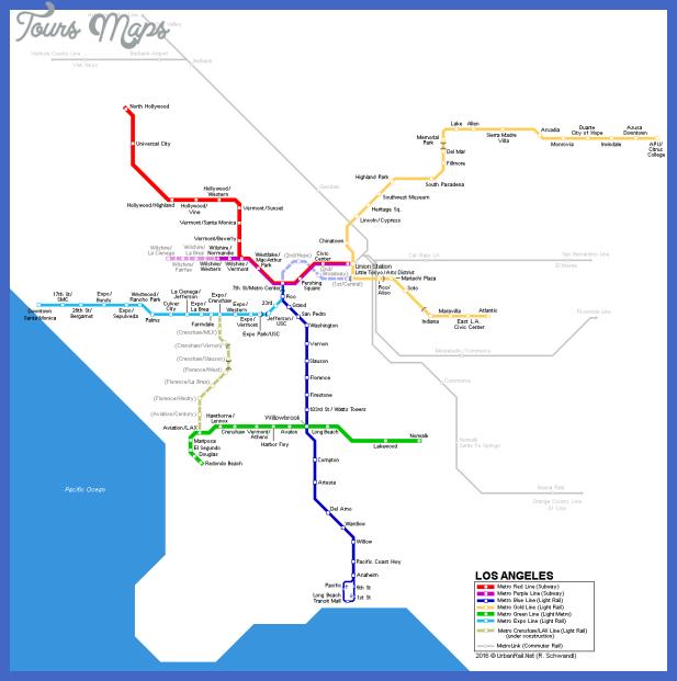 los angeles map Los Angeles Subway Map
