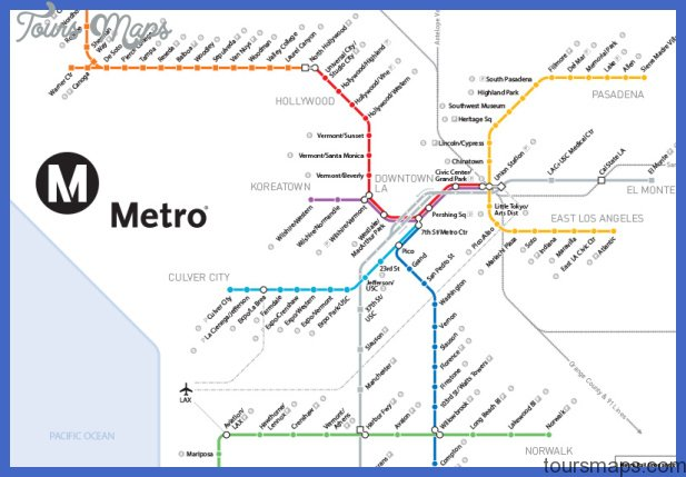 Los Angeles Metro Map  Map  Travel  Holiday  Vacations