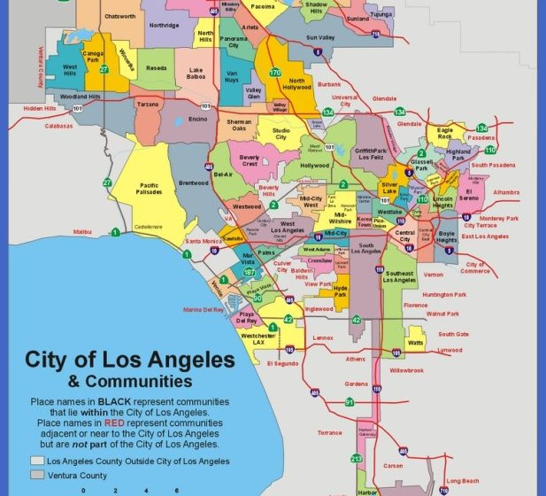 los angeles map   map   travel   holiday   vacations