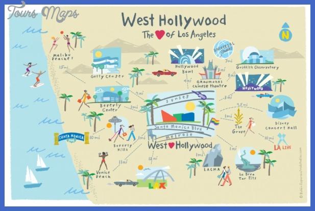 los angeles par quartiers Los Angeles Map Tourist Attractions