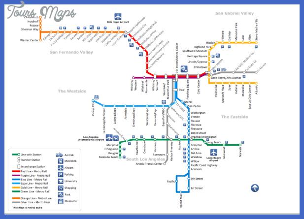 los angeles subway map  1 Los Angeles Subway Map