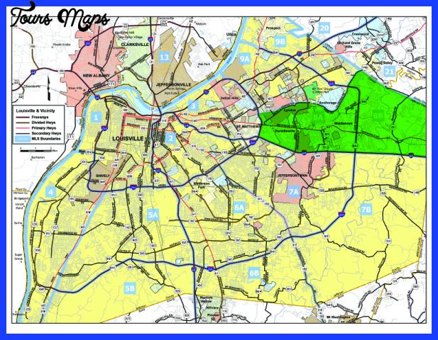 louisville mls map area 8 Loiseville Map