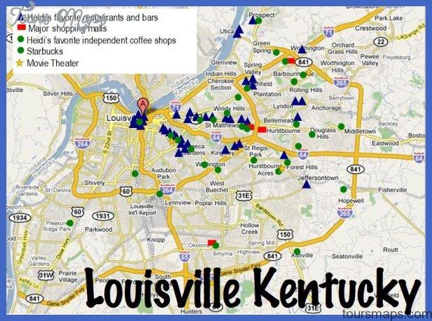 louisville map coffee shops restaurants theaters best of louisville ky Loiseville Map