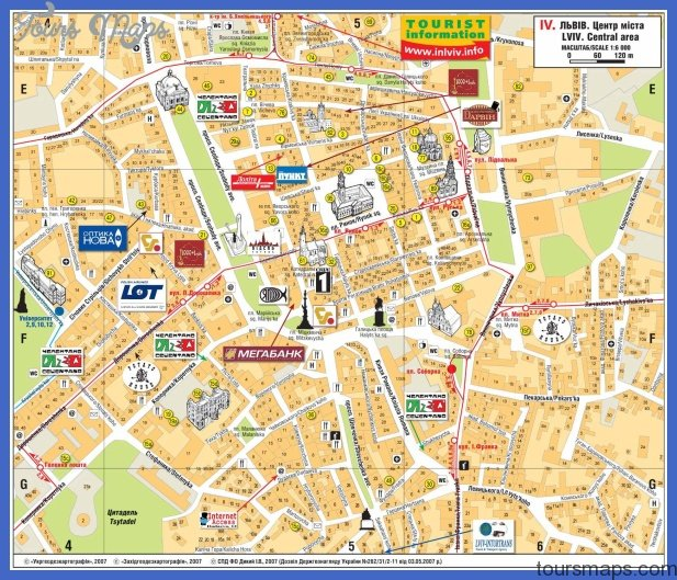 lviv map 1 Katowice Map Tourist Attractions