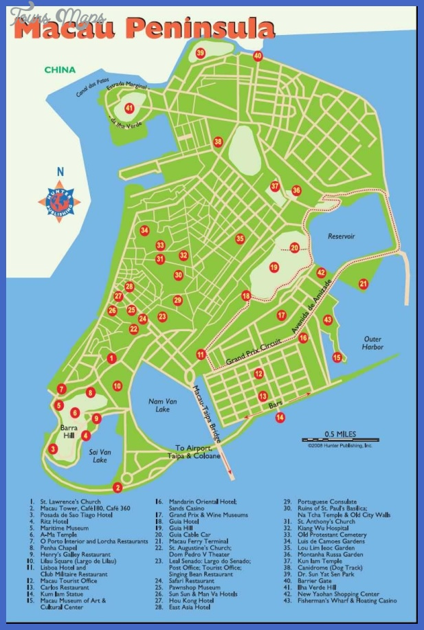 macau map 89880b588c8a4d08bcf31c925e86c0ed 1 Benin Map Tourist Attractions