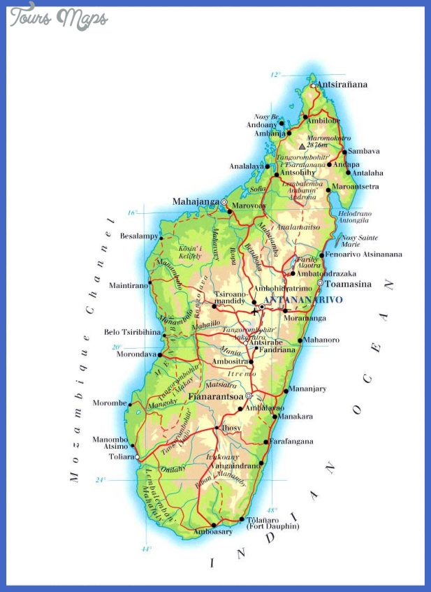 madagascar map 0 Madagascar Map