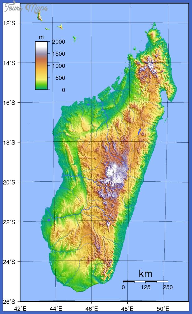 madagascar topography Madagascar Map