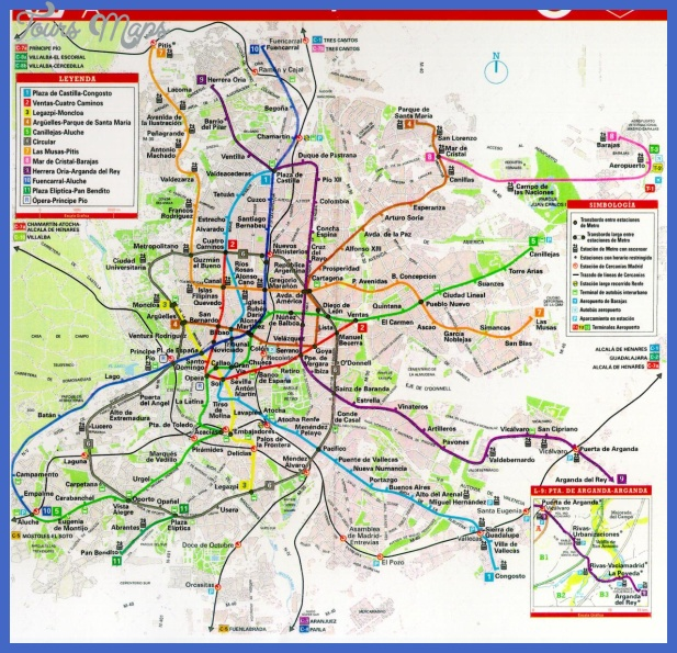 madrid transit map Madrid Metro Map