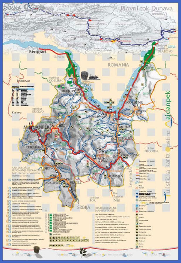 majdanpek tourist map mediumthumb Serbia Map Tourist Attractions