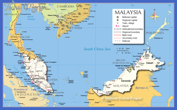 malaysia map  6 Malaysia Map