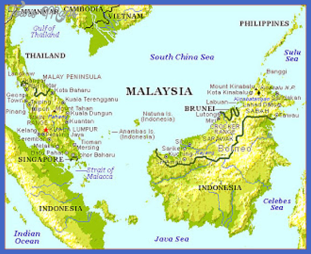 malaysia map tourist attractions  10 Malaysia Map Tourist Attractions