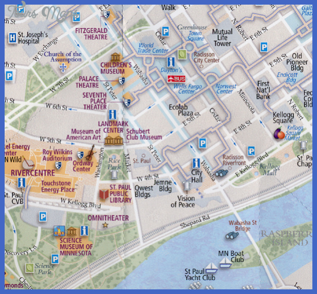 map 6 95 Minneapolis Map Tourist Attractions