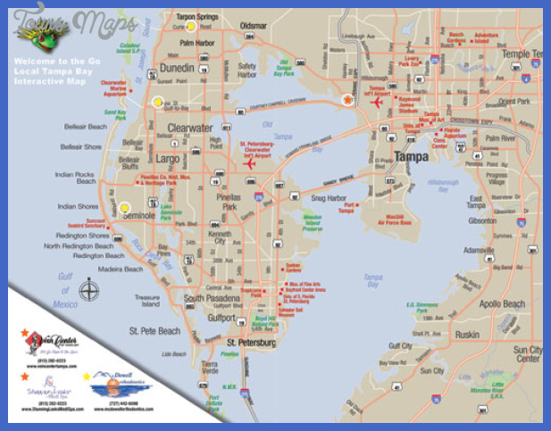 Tampa Map Tourist Attractions ToursMapsCom – Tourist Attractions Map In Tampa