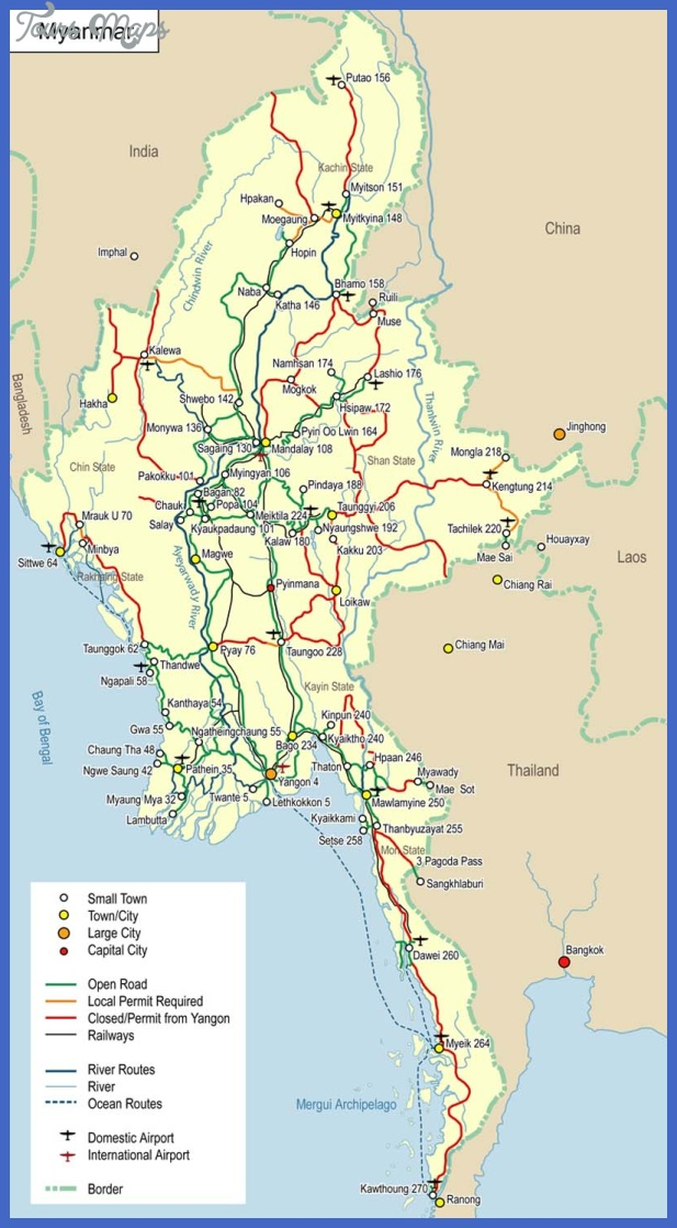 map 9 Burma Map Tourist Attractions