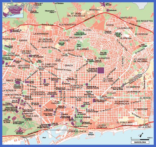 map barcelona Barcelona Map