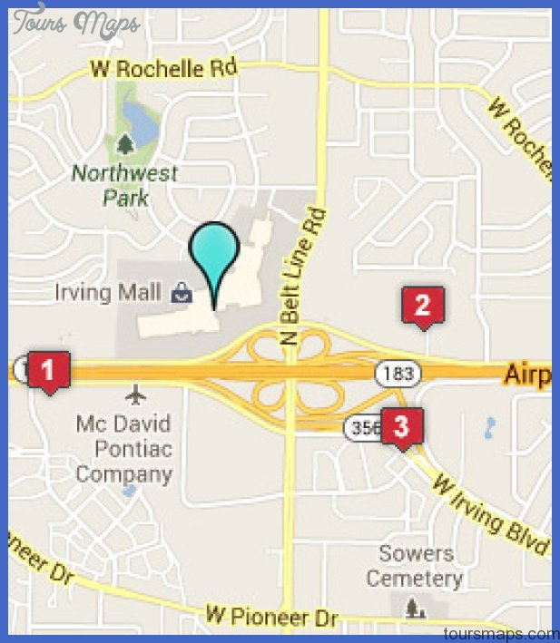 Irving Mall Map Irving Map   ToursMaps.® Irving Mall Map