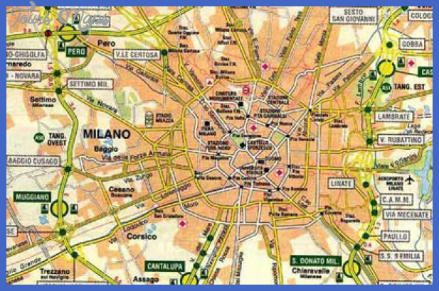 Milan Map Tourist Attractions ToursMapscom