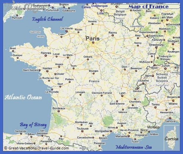 map of france3 France Map Tourist Attractions