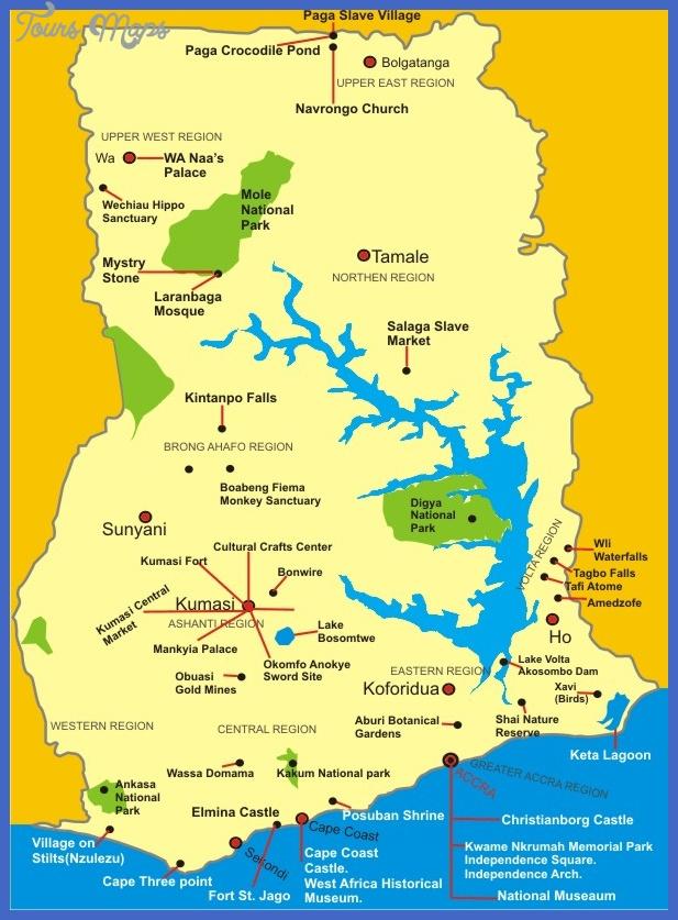 map of ghana Benin Map Tourist Attractions