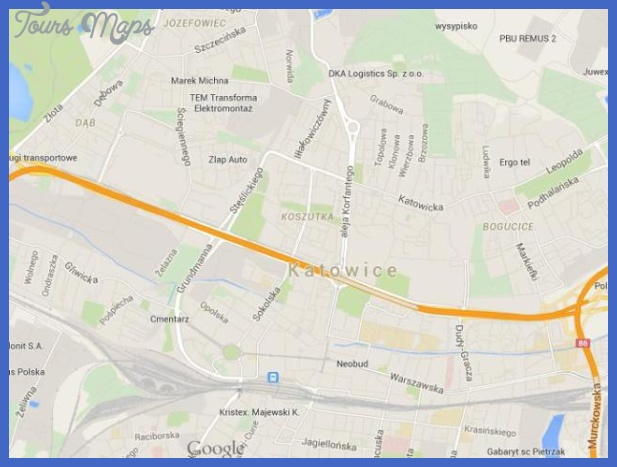 map of katowice 640x480 Katowice Map