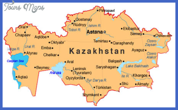 map of kazakhstan Kazakhstan Map