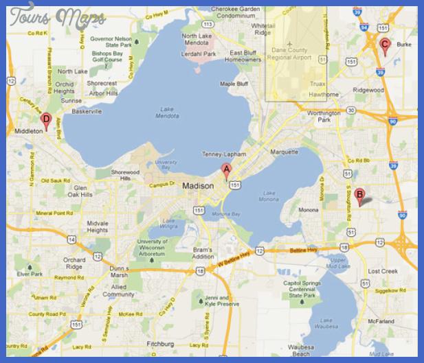 map of madison wi Madison Map