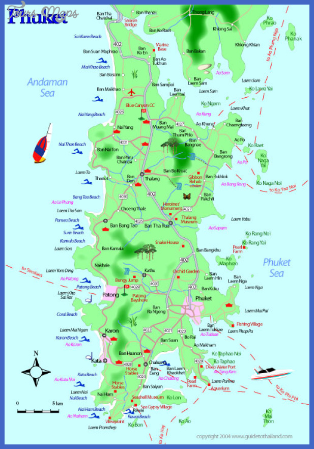 Thailand Map Tourist Attractions ToursMapscom