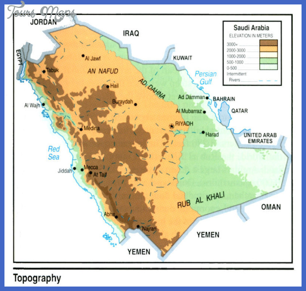 map saudi toppography Saudi Arabia Map Tourist Attractions